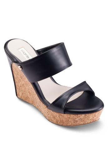 蝴蝶結楔型厚底esprit香港分店地址涼鞋, 女鞋, 鞋