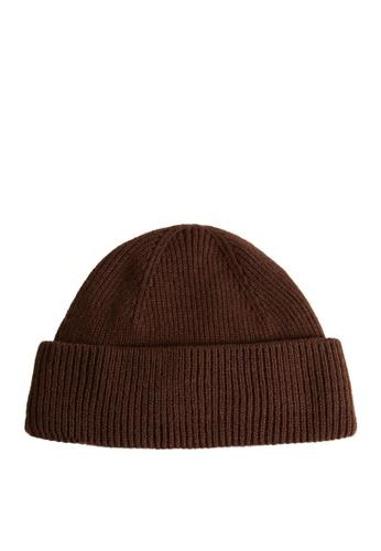 MANGO Man brown Short Knit Beanie F21BBAC590C449GS_1