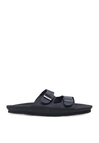 Minarno black Minarno Black Arka Double Strap Sandals 73BC4SHCFD9E7FGS_1