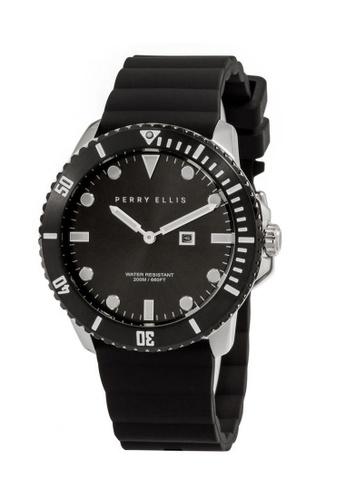 PERRY ELLIS black Perry Ellis Deep Diver Unisex 42mm Quartz Watch 06005-03 7A47FAC1947598GS_1