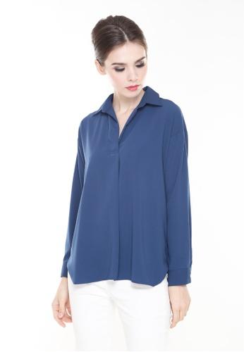 58dd4d33df83a0 Rina Nichie Basic blue Luna Top in Navy 61F58AA40D82C8GS 1