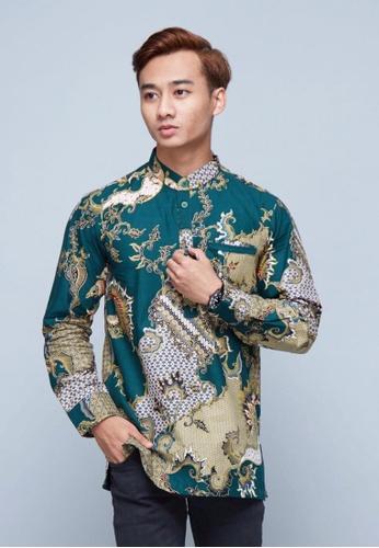 ROSSA COLLECTIONS green PREMIUM EDITION - Batik Sumayyah for Men 693A8AAE81D88FGS_1