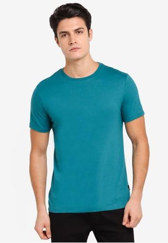 Burton Menswear London green Verdant Green Crew Neck T-Shirt BU964AA0T1HCMY_1