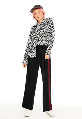 Pomelo black Rosalene Drawstring Pants F4583AA8D4F7B0GS_1
