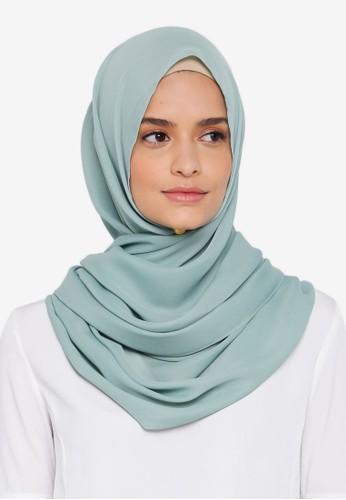 Lubna green Basic Shawl 58911AADB9FCB6GS_1