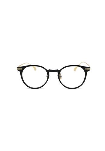 Kyfer's Eyewear & Essentials black and gold OP Round Vintage Glasses KY376AC0FTR9SG_1