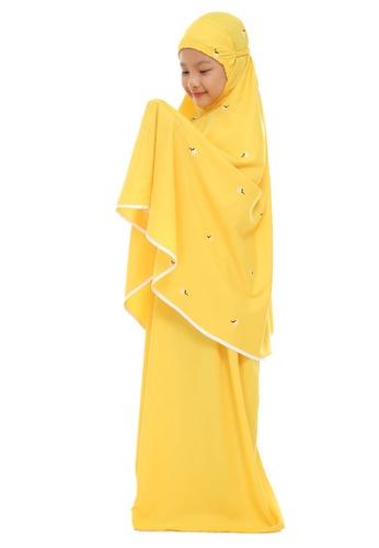SITI KHADIJAH yellow Siti Khadijah Telekung Broderie Cilik Tuberose in Yellow 070A9AA74D9612GS_1