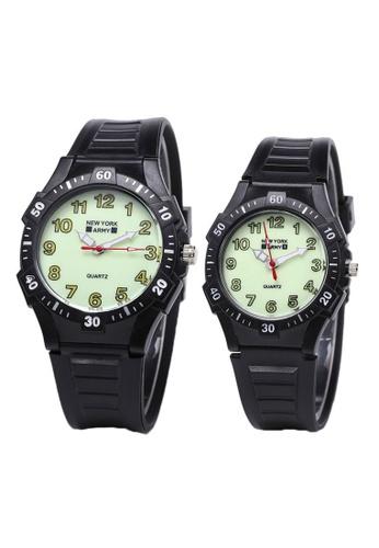 Hamilton Nya1366 Plastic Strap Couple Watch