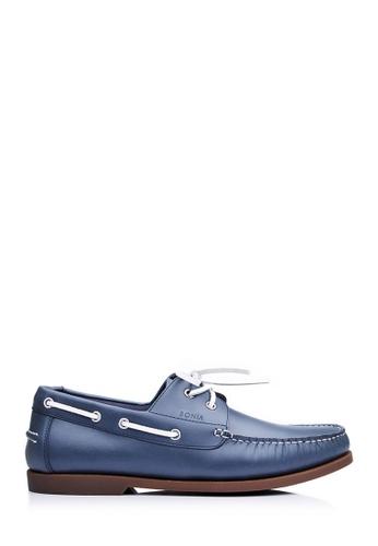BONIA blue Men Dark Blue Boat Loafers 7B908SH7163BC7GS_1