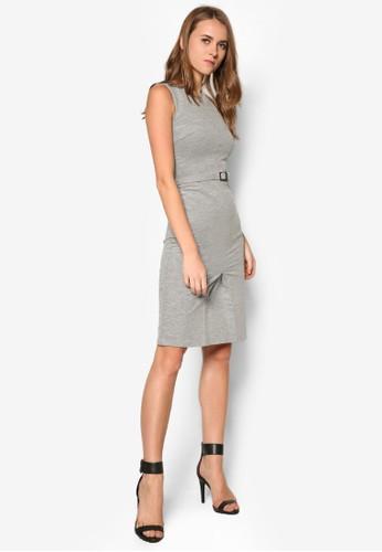 暗紋腰帶連身裙, 服飾zalora 包包 ptt, 洋裝