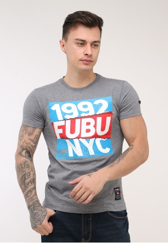 Fubu Boys grey Round Neck Muscle Fit T-Shirt A0CA7AAE013F25GS_1