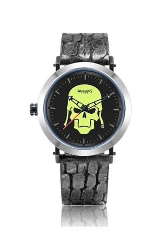 Assassin's Time black Assassin's Time SKULL FIGHTER Black Leather 03015AC16B43DCGS_1