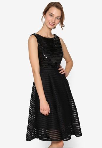Chaesprit地址rlotte 亮片圓領無袖連身裙, 服飾, 服飾