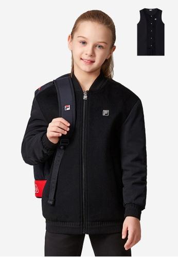 FILA black FILA KIDS Rhinestone F-box Logo Two Pieces Jacket 8-16yrs C9784KA39B959EGS_1