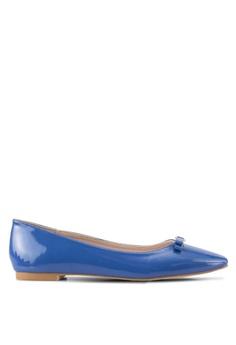 8408606036e Velvet blue Square Toe Ballet Flats 9CB33SHE6E8CACGS 1