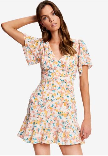 Tussah multi Asha Mini Dress 90DA7AAA68CB1FGS_1