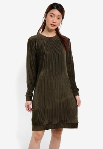 Something Borrowed green Dip Hem Sweater Dress 904B0AA056B623GS_1