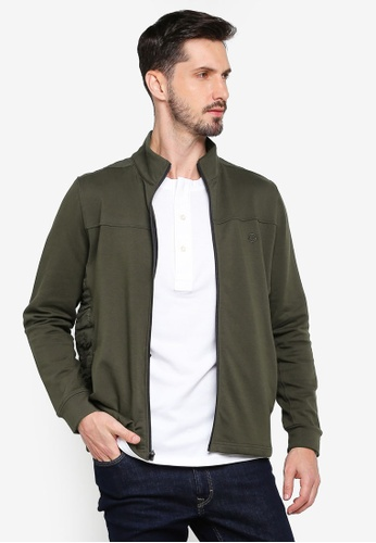 Gay Giano green Casual Military Green Jacket C7AD1AA9D41EC4GS_1