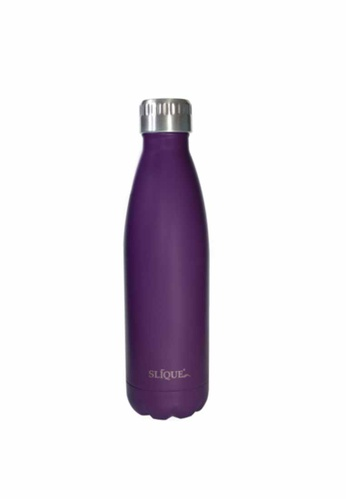 Slique purple Insulated Stainless Steel Vaccum Water Bottle/Tumbler 500ml (Matte Finish) 97298HLCAA8378GS_1
