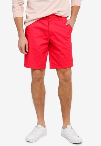 Burton Menswear London 紅色 Chino Shorts BU964AA0SWMDMY_1