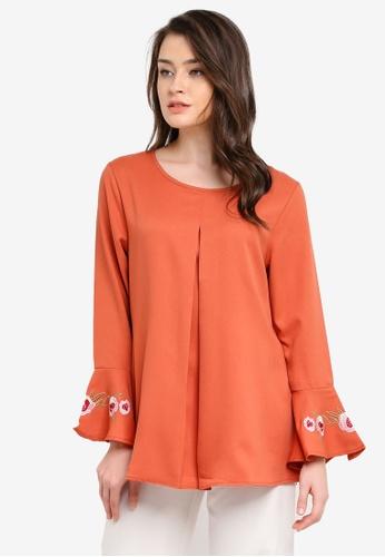 BYN orange Muslimah Blouse BY059AA0S0XXMY_1