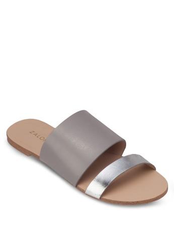 撞zalora是哪裡的牌子色雙帶平底涼鞋, 女鞋, 涼鞋