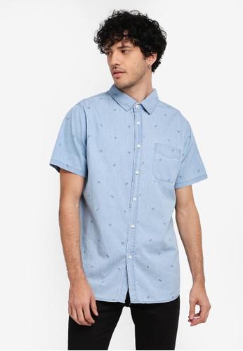 Cotton On blue Vintage Prep Short Sleeve Shirt CO372AA0SSB4MY_1