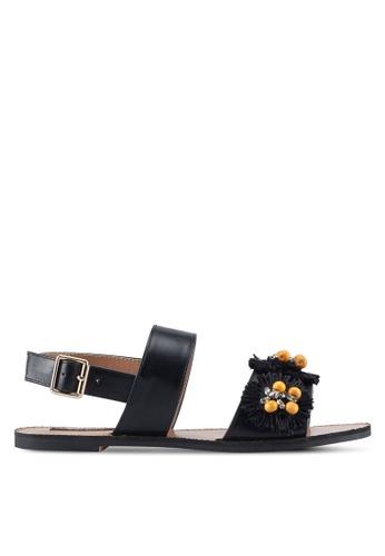 ZALORA black Raffia Sandals F6123SH9A5E9E1GS_1