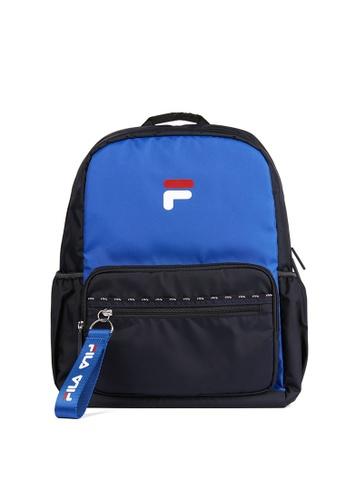 FILA blue FILA KIDS F Logo Backpacks 5D16DKCD6F5EA5GS_1