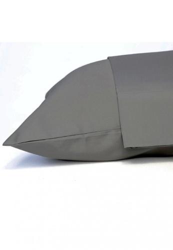 Dkny grey DKNY Wrinkle Resistant Ash Fitted Sheet. 0FD96HL342DA52GS_1