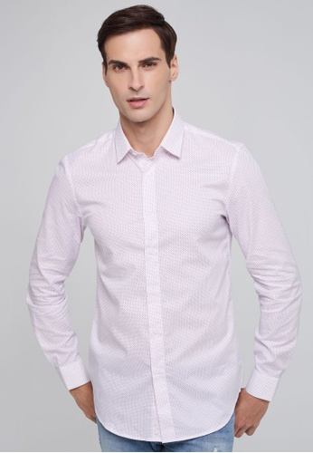 United Colors of Benetton white Printed Oxford shirt 4CF51AA800C00FGS_1