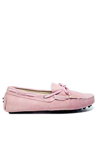 Twenty Eight Shoes 粉紅色 女裝真猄皮豆豆鞋M99 C6187SH07D50EEGS_1