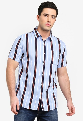 b36806eeaf48c9 Cotton On orange and blue and navy Vintage Prep Short Sleeve Shirt  6E1C9AACD85EE4GS 1