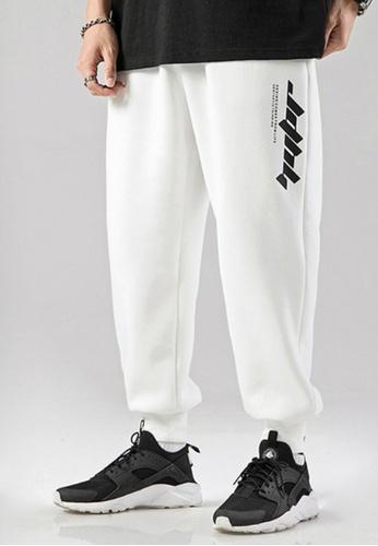 Twenty Eight Shoes white VANSA  Simple And Loose Casual Pants VCM-P2506 4D79BAA34F271CGS_1