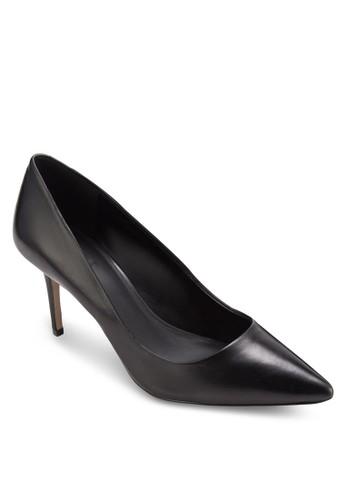 zalora時尚購物網的koumi koumiWaenia 仿皮尖頭高跟鞋, 女鞋, 鞋
