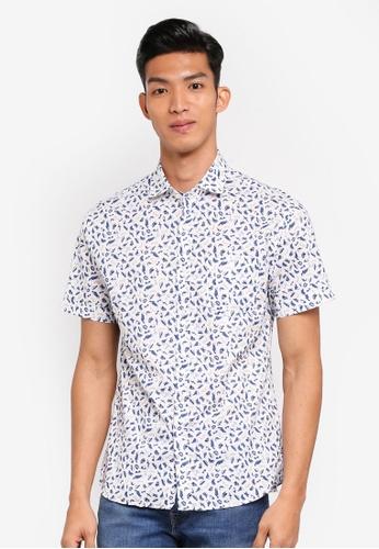 MANGO Man white Regular-Fit Printed Cotton Shirt ACE5BAAB8E26B2GS_1
