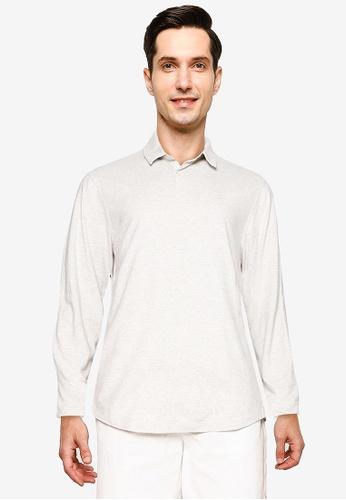 GAP 米褐色 Long Sleeve Polo Shirt 7DD76AADEDCFF0GS_1