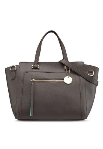 Perllini&Mel brown Faux Leather Satchel Top Handle B7489AC23EB2B6GS_1