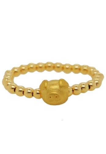 LITZ gold LITZ 999 (24K) Gold Adorable Pig with 9K Ring 6C93DACFA56DD0GS_1