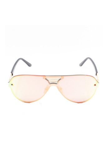 Amora Scarlett pink Aviator Flat Rose Gold Transition with Gold and Black Frame AM058AC37DAOMY_1