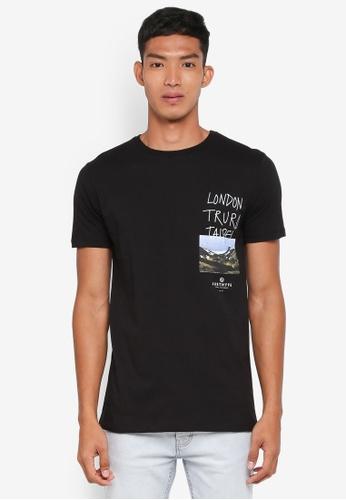 Just Hype black Truro T-Shirt 60051AA9AFA8B9GS_1