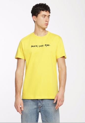 Diesel yellow T-Diego-Wi Tshirt 34C03AA8E2AF5CGS_1