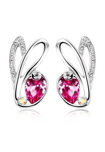 OUXI pink OUXI Rabbit Charm Earrings (Rose) OU821AC31LTCMY_1
