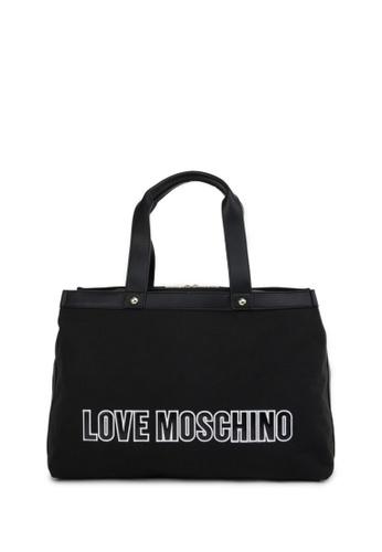 Moschino black Logo Tote Bag A2915AC30F9D35GS_1