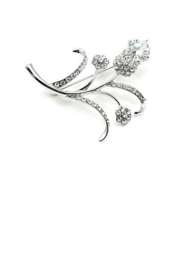 Glamorousky silver Elegant Brooch with Austrian Element Crystals 8D3AAAC1F60C0EGS_1