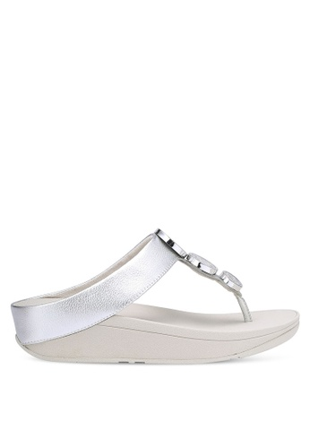 Fitflop silver Halo Toe Thong Sandals FI522SH0RP69MY_1
