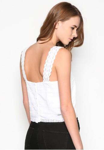 Broderie Square Neck Szalora時尚購物網的koumi koumiuntop, 服飾, 坦克背心& 細肩帶背心