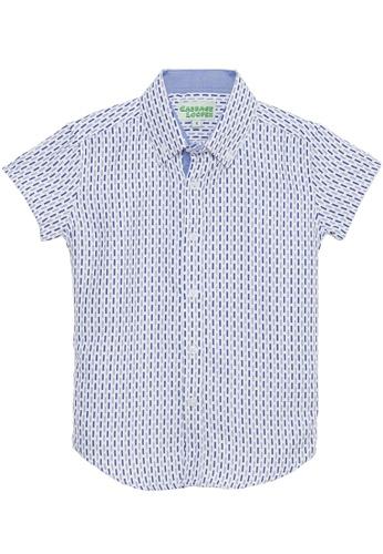 Cabbage Looper blue Boys Button Down Printed Shirt - K1568 A8634KA477E02BGS_1