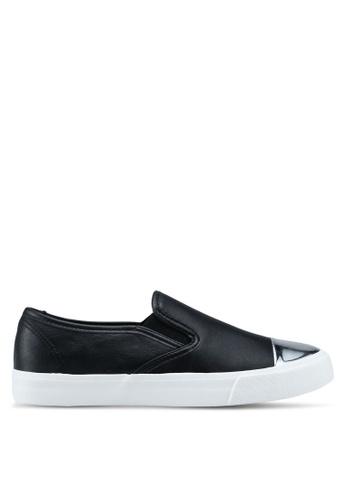 OVS 黑色 金屬拼接懶人鞋 B212BSH6153EA4GS_1