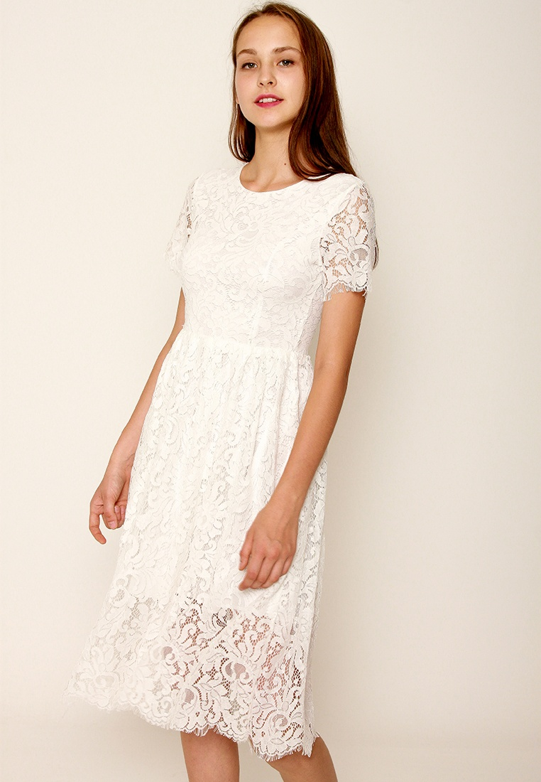 Lace Dress Style Layla White Leline p8Bwq